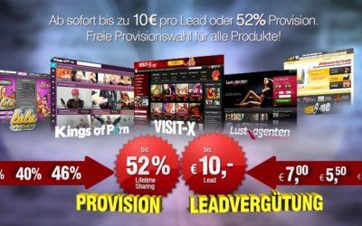 Lead und Revshare bei VXCash auf alle Produkte